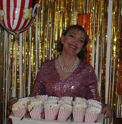 Sophie Neville with the pop corn