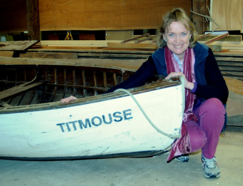 Sophie Neville with Titmouse in Norfolk