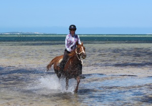Sophie riding in Mozambique