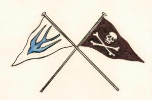 Swallows & Amazons flags drawn by Sophie Neville