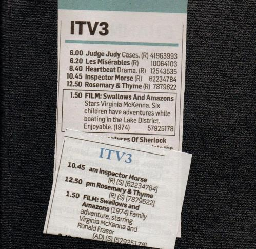 Swallows & Amazons TV billing 2014