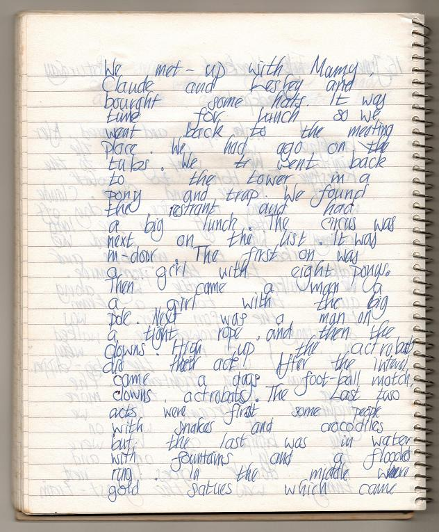 16th June ~ my diary page two