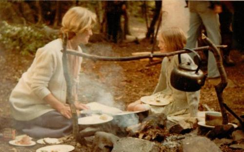 Virginia McKenna and Sophie Neville on Peel Island