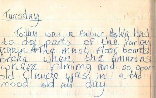 Suzanna Hamilton's diary of filming 'Swallows and Amazons in 1973