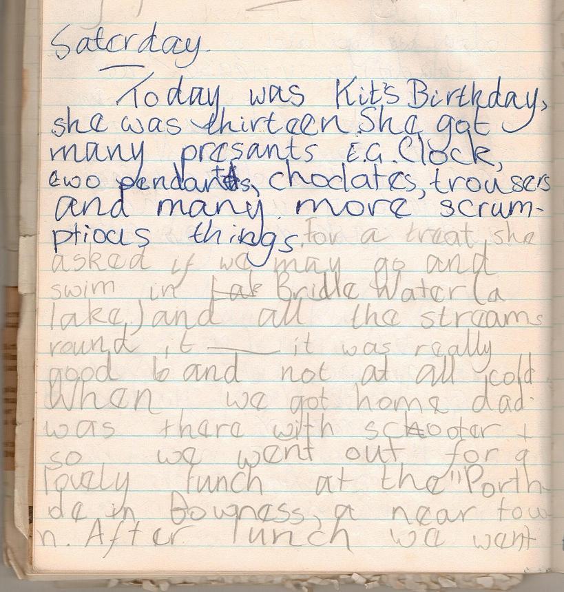 23 June - Suzanna's diary