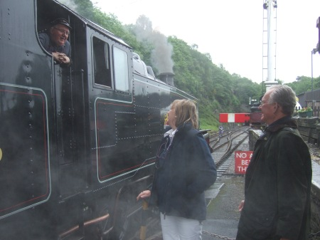 Talking to the train driver just as we did in 1973