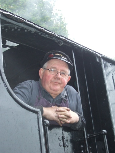 The driver of the Lakeside and Haverthwaite Steam locomotive