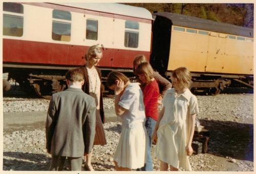 With Virginia McKenna at the Haverwaite Railway Station