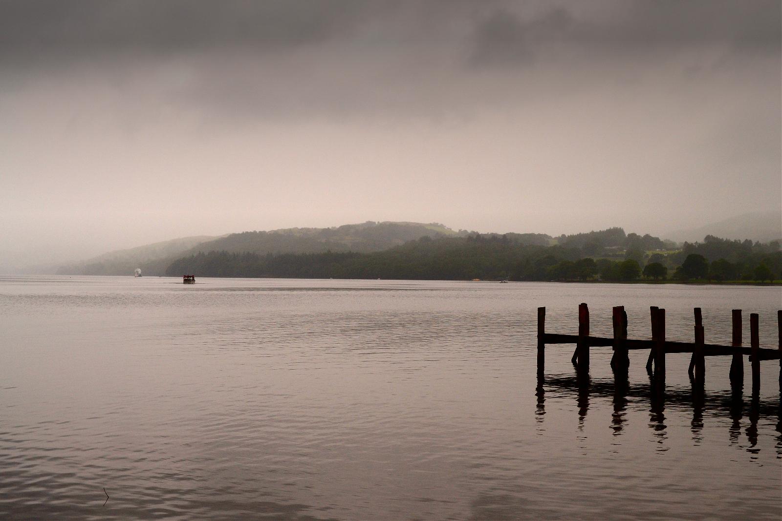 Coniston Water in the rain