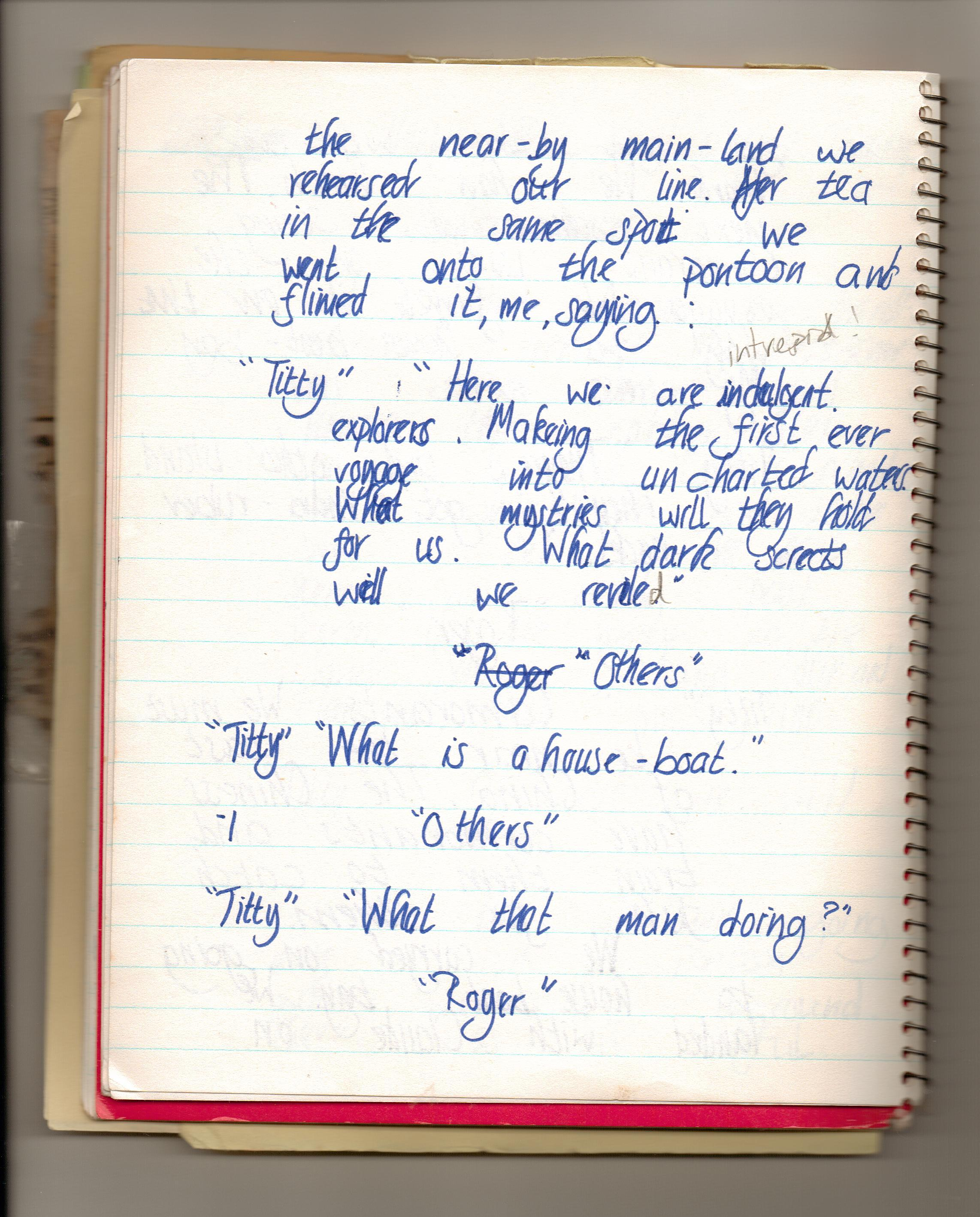 28th June ~ my diary page three