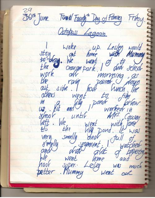 Sophie's diary about filming 'Swallows and Amazons' in 1973