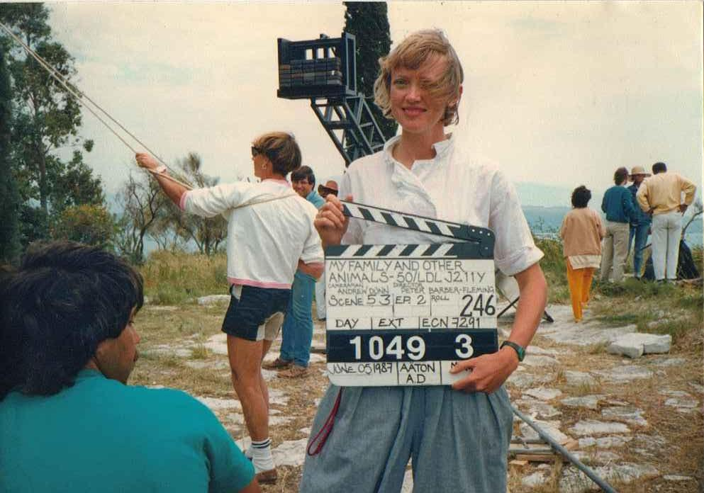 Sophie Neville on the set of 'My Family and other Animals'
