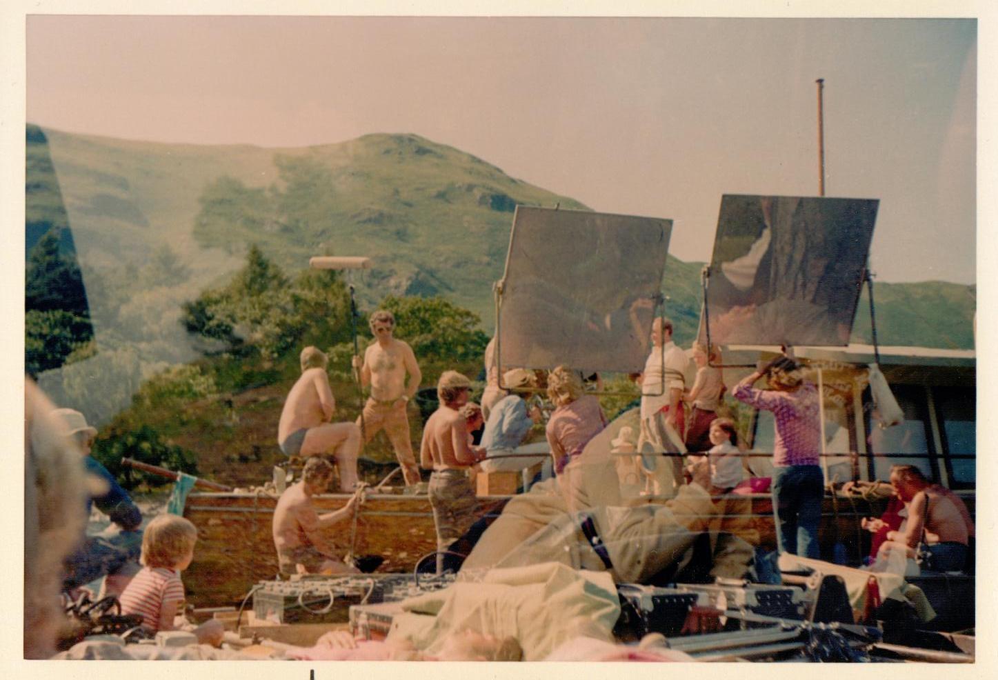 Battle of Houseboat Bay ~ The film crew on Derwentwater