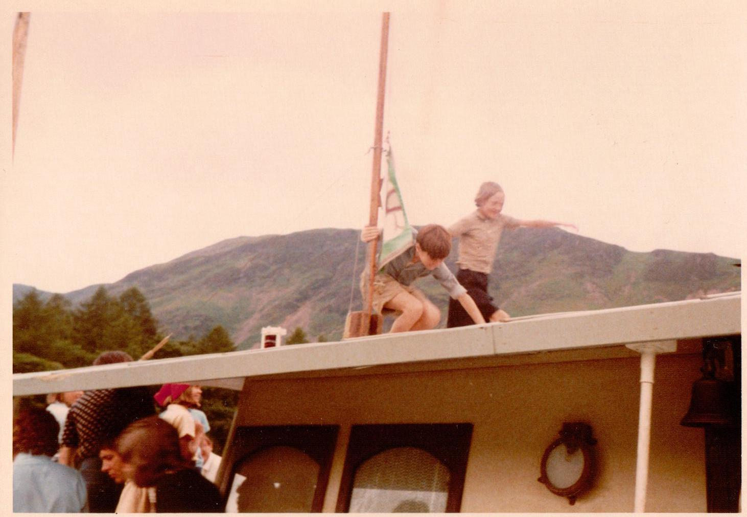 Simon West and Sophie Neville on  Captian Flint's Houseboat