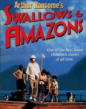 A cover for the 1977 VHS copy of 'Swallows and Amazons' ~ US a version