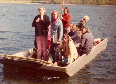 Claude Whatham and his crew on the camera punt