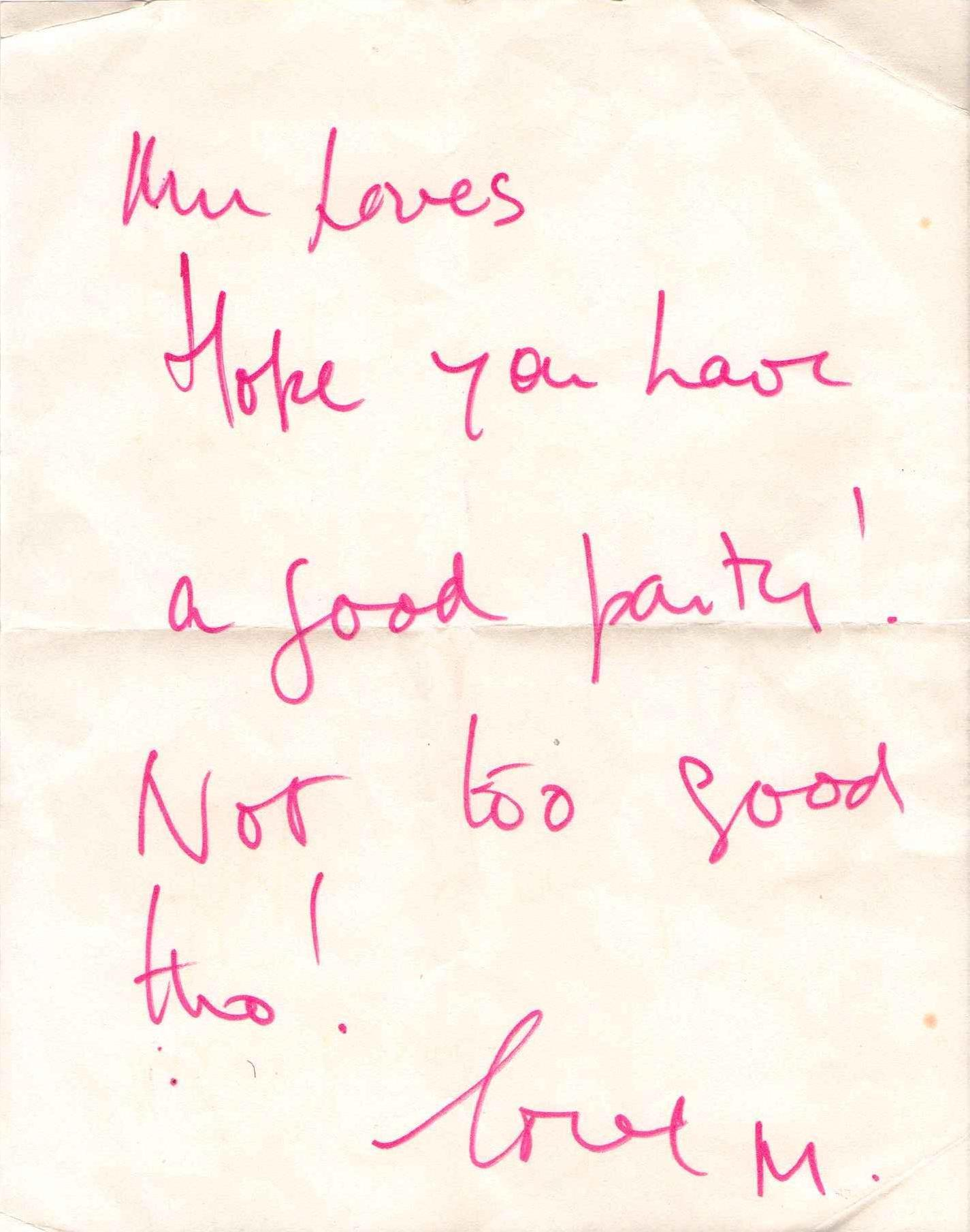 A letter from my father