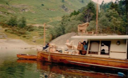 The Lady Deerwentwater starring in 'Swallows and Amazons' as Captin Flint's Houseboat