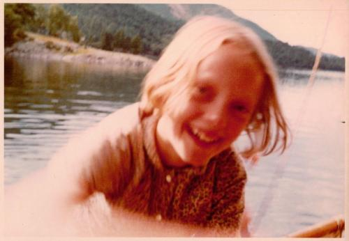Sophie Neville as Titty Walker on Derwentwater ~ photo: Daphne Neville