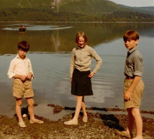 Sophie Neville as Titty Walker with Stephen Grendon as the Boy Roger and Simon West playing Captain John Walker on Derwentwater