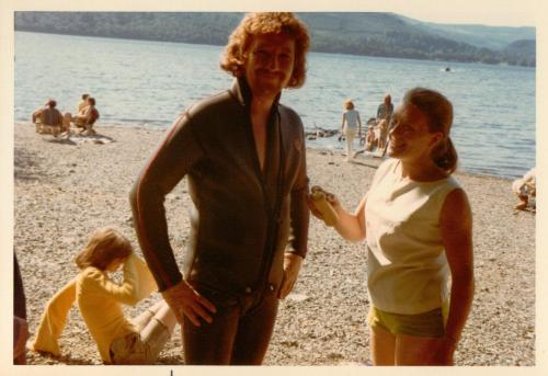 Terry Smith and Jean McGill on Derwentwater