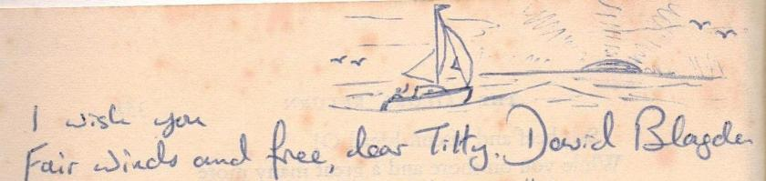 David Blagden's signature and sketch