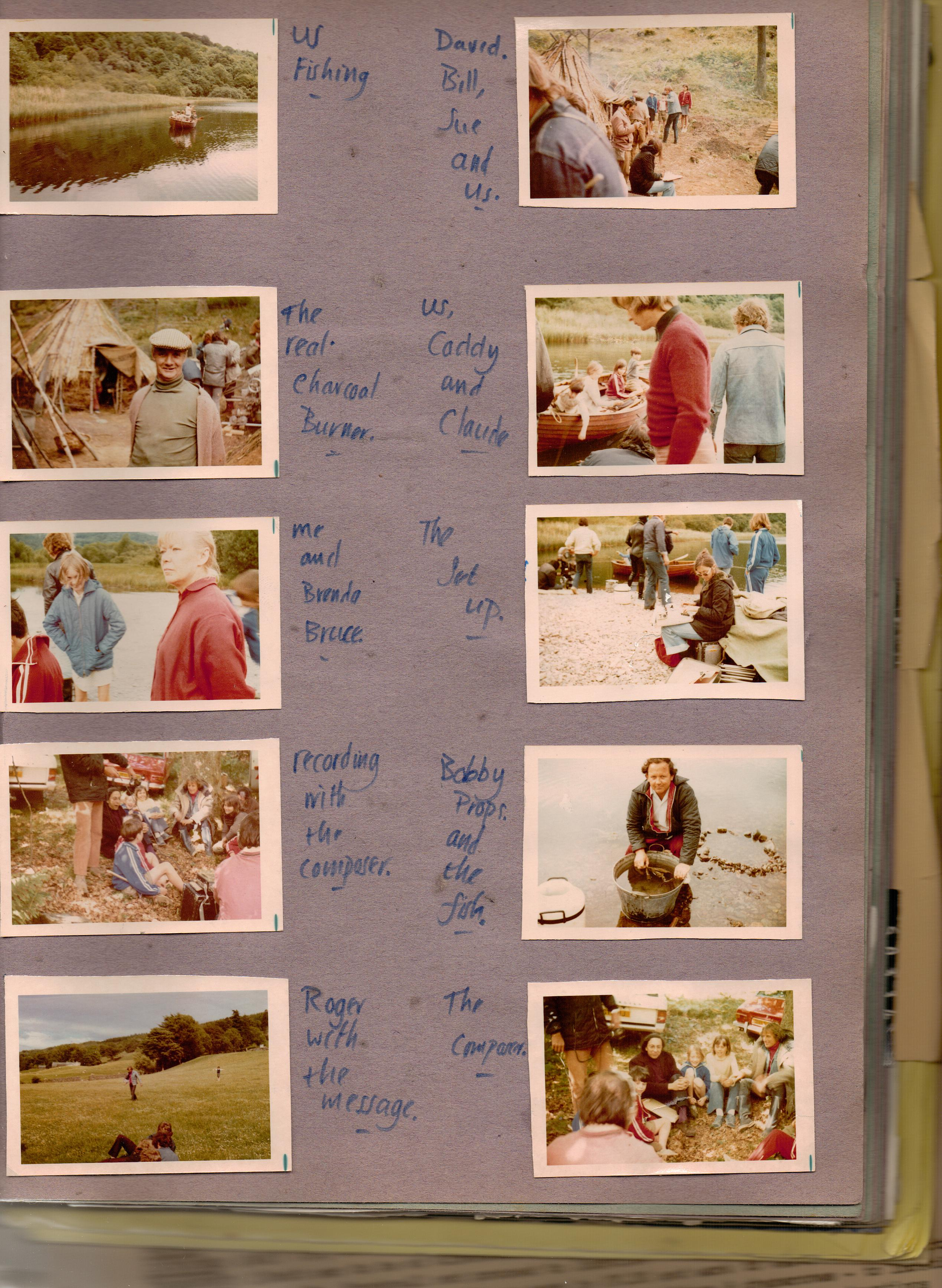 Photographs in a child's scrapbook