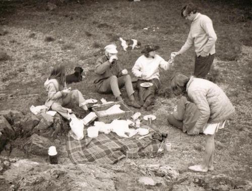 A family picnic on the banks of Coniston Water, Cumbria in 1973