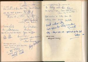 Signatures of the rest of the cast and crew of 'Swallows and Amazons' in the back of my Jonathan Cape edition of Arthur Ransome's book