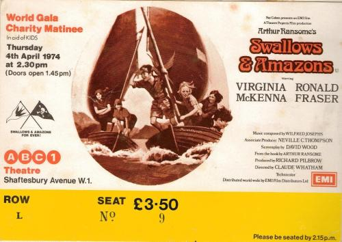 Premier ticket for the Gala of 'Swallows and Amazons'