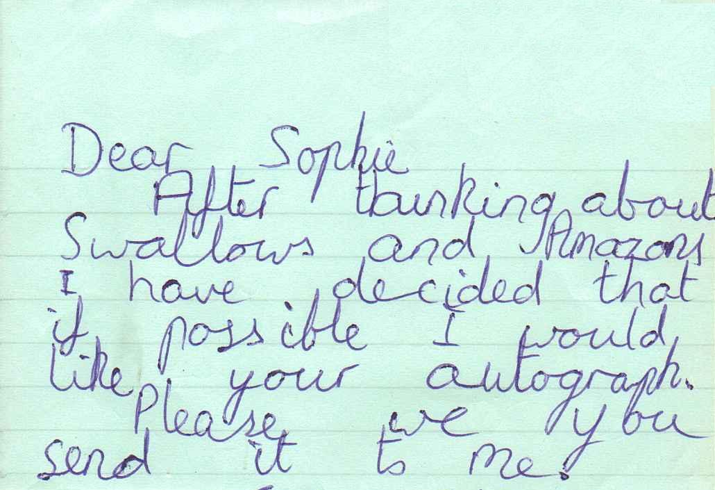 A fan letter!
