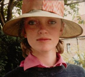 Sophie Neville in 1983, during the filming of 'Swallows and Amazons Forever!'