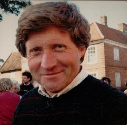 David Dimbelby with us on location in Norfolk, 1983