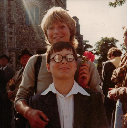 Diana Brookes in Beccles with Richard Walton who played Dick in 'Coot Club'