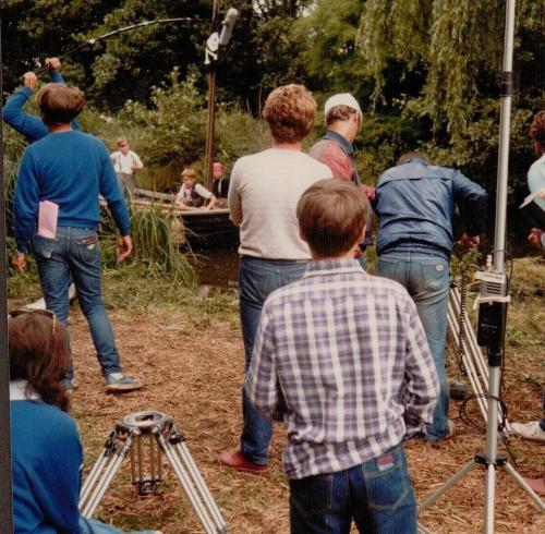Coot Club - the camera crew watched by Richard
