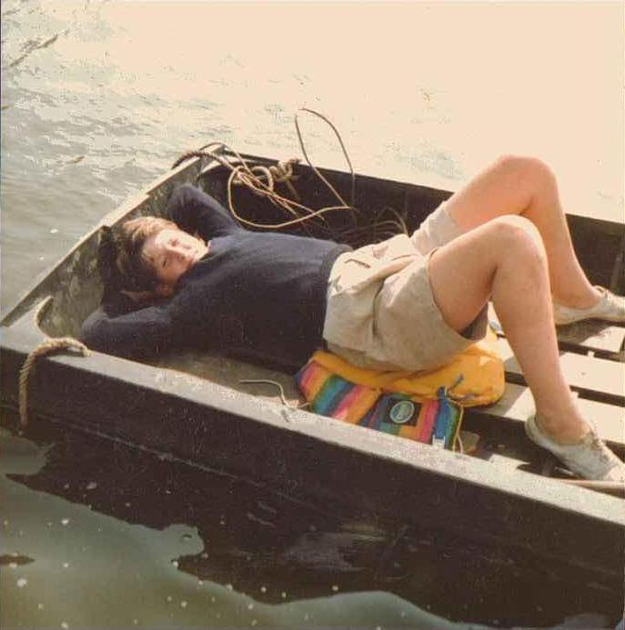 Henry Dimbleby resting between takes in the 'Dreadnaught'