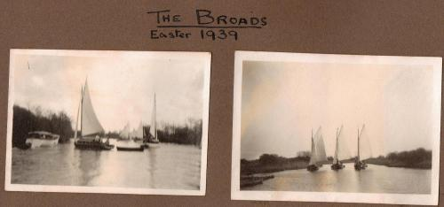 Sailing on the Norfolk Broads - Easter 1939