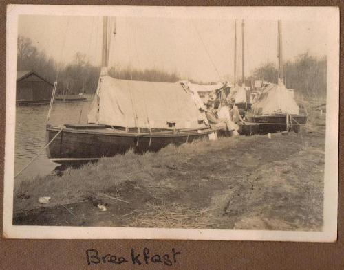Breakfast on the Norfolk Broads ~ Easter 1939