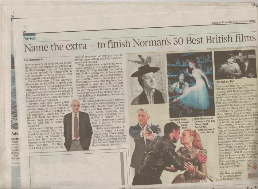 Barry Norman 50 greatest films