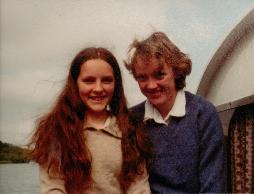 Caroline Downer with Sophie Neville