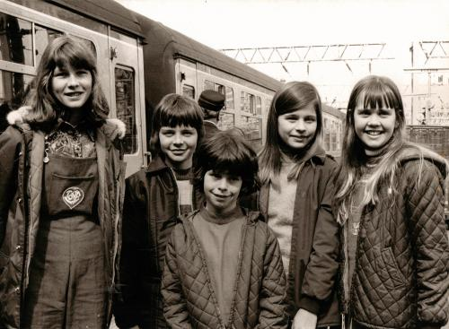 BW the cast at Euston Station May 1973