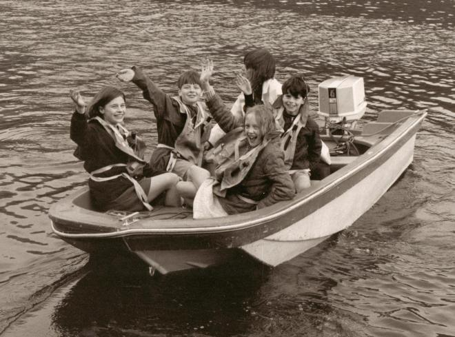 BW Wearing Life Jackets in the Safety Boat - trimmed
