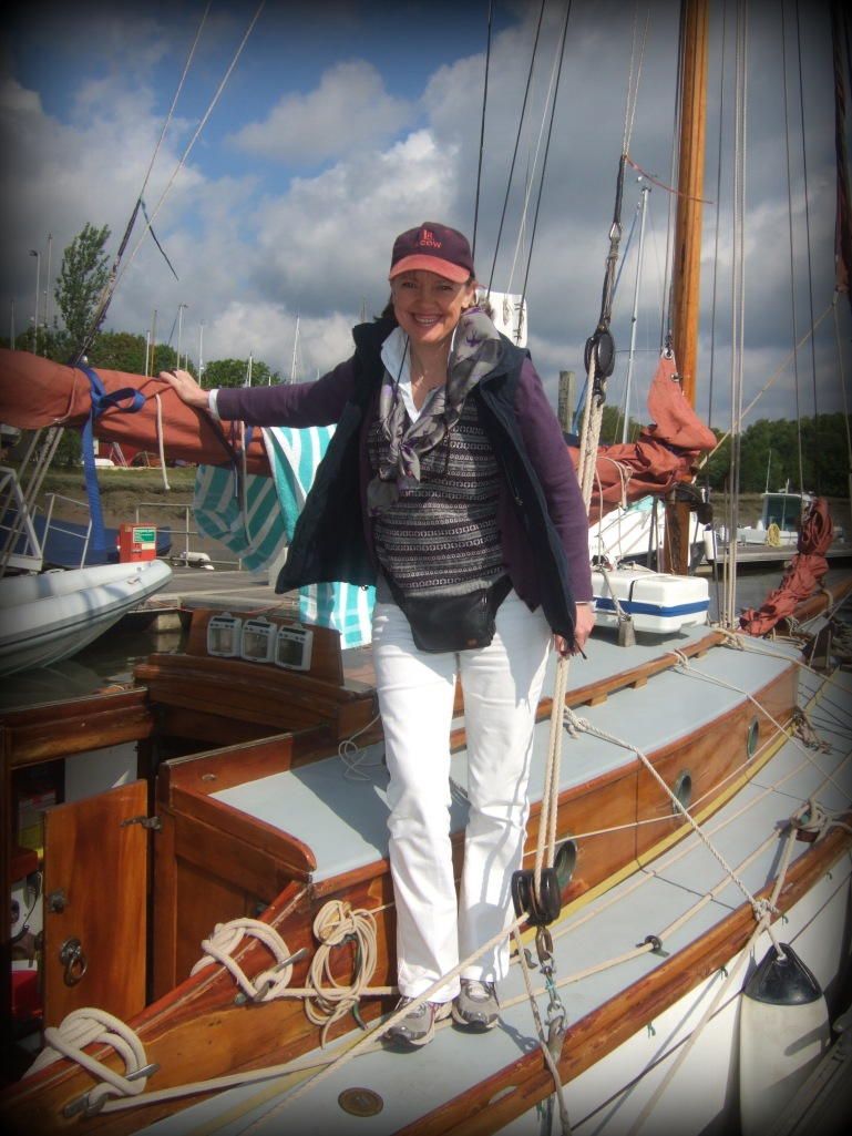 Sophie Neville aboard the Nancy Blackett