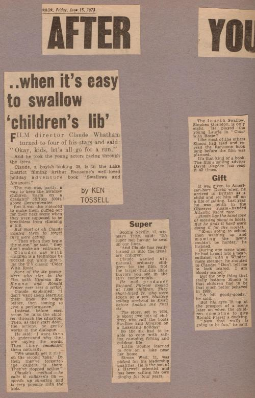 Mirror 17th June 1973