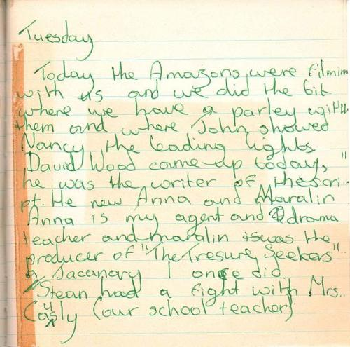 Suzanna's diary mentioning David Wood