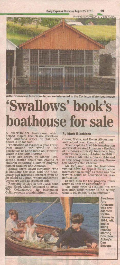 Daily Express Boathouse article