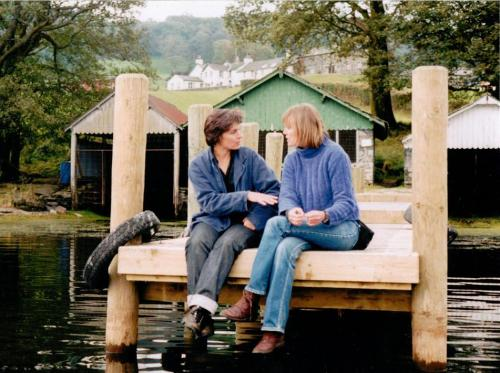Suzanna Hamilton and Sophie Neville below Bank Ground Farm on Coniston in 20031
