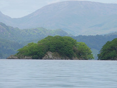Peel Island on Coniston Water, which you can visit by boat.