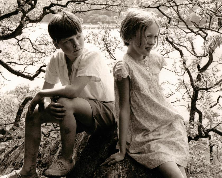 Simon West and Sophie Neville on Peel Island in 1973
