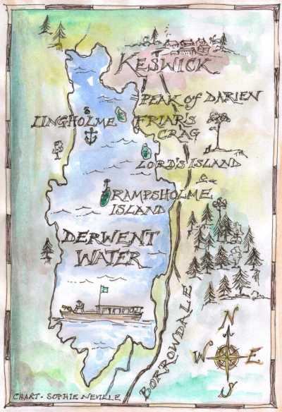 Map of Derwentwater by Sophie